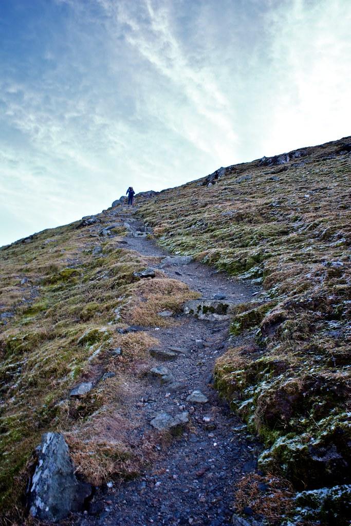 Climbing Ben Lawers
