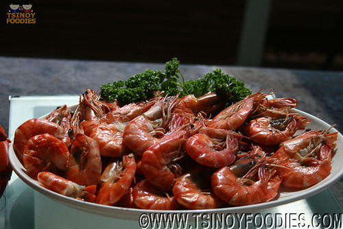 steamed shrimps