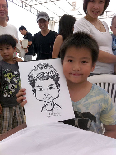 caricature live sketching for LGT Family Day - 5