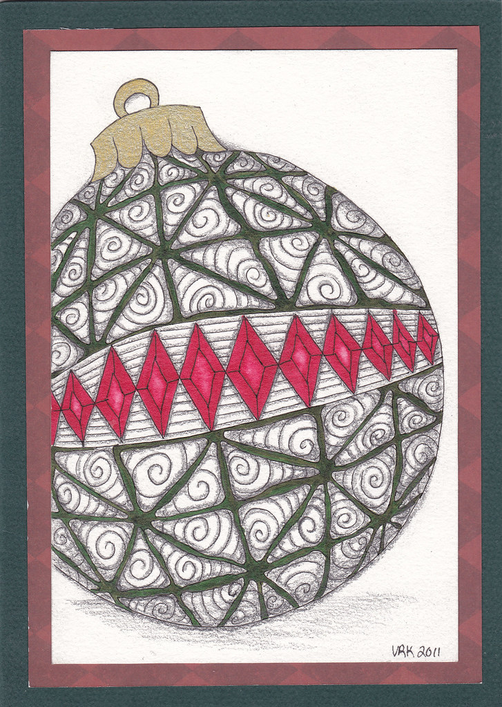 Black White Christmas Tree Ornament