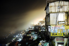 The view from your window (Amar Lalta) Tags: light india mountains fog skyline night photography lights photo shimla hill foggy scene hills planet lonely himalaya challenge himachal pradesh lphotelwindow lp2011winners