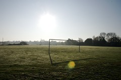 319/365 | Goal! (rosberond) Tags: morning shadow sun sunshine football suffolk goal soccer flare playingfield canonefs1785mmf456isusm 365for2011