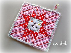 star quilt, pot holder (coco stitch) Tags: christmas star quilt gift potholder