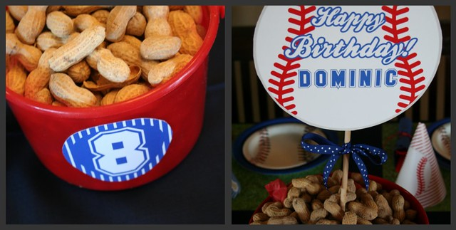 Baseball Collages - Peanuts & Centerpieces