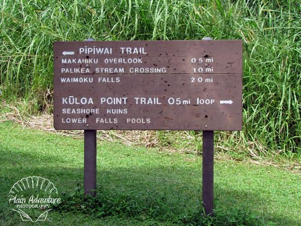 Pipiwai Trail Sign