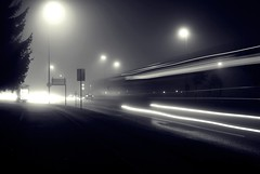 CPB (Sareni) Tags: november blackandwhite bw fog night lights traffic tripod slovenia tabor slovenija mb maribor twop 2011 cpb sareni