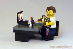 My Workstation (tomleech) Tags: two face tom office chair lego desk laptop board mini dent harvey figure cutting decal minifig custom nano scalpel leech moc sculpt nanofig