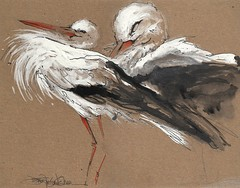 more storks (Jennifer Kraska) Tags: bird art painting jennifer cardboard stork kraska jenniferkraska