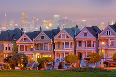The Painted Ladies (Michael Rickard) Tags: sanfrancisco california canon paintedladies alamosquare