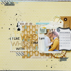 I like who I am when I am with you (ania-maria) Tags: autumn fall love yellow scrapbooking annamaria scrap chevron ils ilowescrap aniamaria