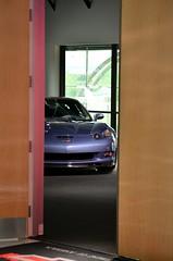 Corvette C6 ZR1 peeking through (scott597) Tags: heritage gm center corvette c6 zr1