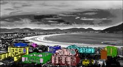 LAREDO CITY (JLL85) Tags: blue red sea orange white black verde green art blanco beach colors yellow azul buildings mar rojo edificios arte purple negro playa colores amarillo laredo naranja morado