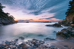 Akaihama in 17:54 (-TommyTsutsui- [nextBlessing]) Tags: longexposure blue light sunset red sea sky seascape nature rock japan clouds landscape coast nikon waves purple dusk magic tide scenic      islet hdr izu  landform  matsuzaki   sigma1020    onsalegettyimages