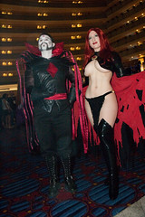 Goblin Queen and Mister Sinister (BelleChere) Tags: atlanta costume perfect geek cosplay harrypotter tummy convention marvel dragoncon siriusblack madelynepryor goblinqueen yuleball mistersinister bellatrixlestrange