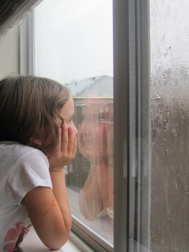 Watching the long-awaited rain