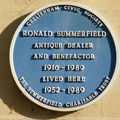 Photo of Ronald Summerfield blue plaque