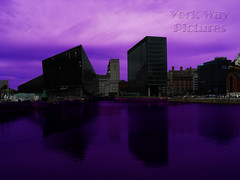 Liverpool Front Purple (YorkWayPictures) Tags: pictures york reflection art skyline liverpool docks way poster photo acrylic purple sale picture canvas