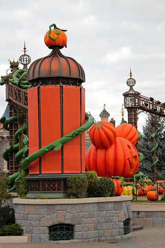 Castle Stage decorated for Halloween