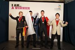 SP0_4608 (WorldSkills) Tags: france london japan germany korea medal carpentry closingceremony competitor worldskills wsc2011 flavienparent philippstich shotamori sanghyunkim