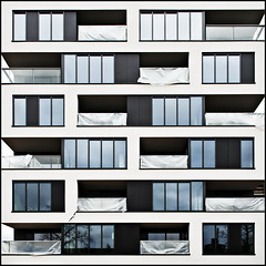 Living in a box (Maerten Prins) Tags: new building window lines modern nijmegen living expo balcony tetris edges