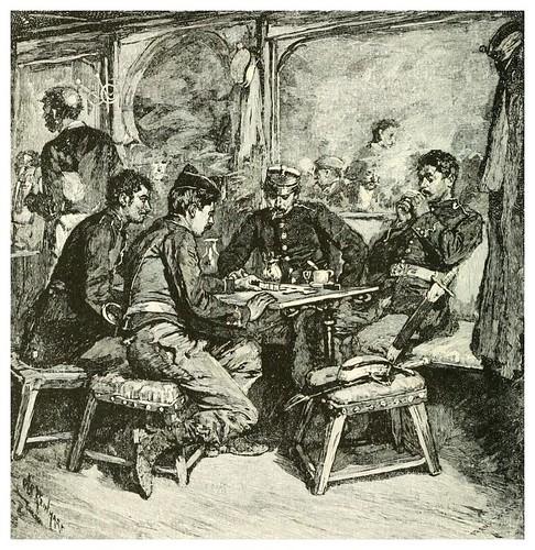 005-Soldados españoles jugando al domino-Spanish vistas-1883- George Parsons Lathrop