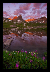 The dreamers, dream forever! (Koveh Photography) Tags: canon eos 5dmkii 1635 ef1635 colorado co denver photographer august summer koveh kovehphotography landscapephotography beauty majestic icelake basin lake flowers reflection mountain peaks alpenglow rocks clouds cloudscapes sanjuanmountains usa light red purple nohdr wideangle dramatic sunrise sunset travel vacation digital