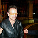 Bono of U2 signs autographs and poses for photos with fans at Dublin castle. Bono's car was also parked in a no parking zone. Dublin, Ireland