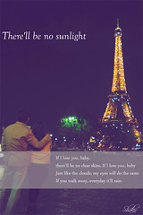 If I Lose You Baby.. (Shakir's Photography) Tags: woman sunlight man paris france guy tower love boyfriend girl yellow night hug girlfriend couple shine young inlove edit  eiffle shanko sabir  shakir