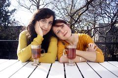 Aida & Mar (Krystle.M) Tags: park new york city girls friends music fall musicians season pretty tea swell marketa slope the irglova