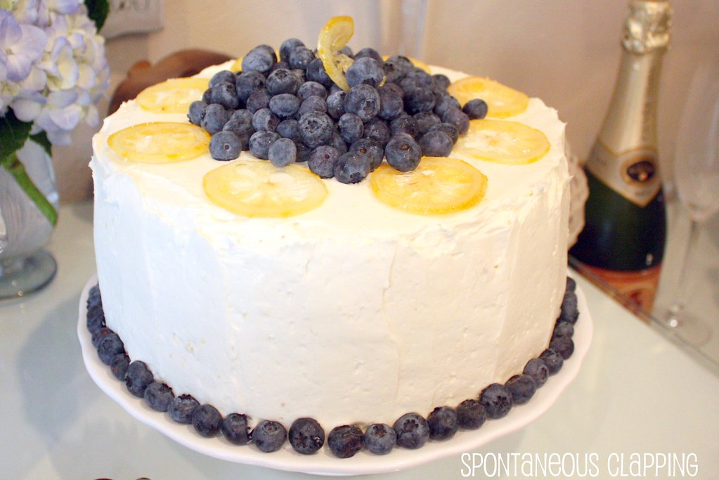 Spontaneous Clapping Lemon Blueberry Layer Cake