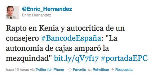Enric Hernàndez a Twitter