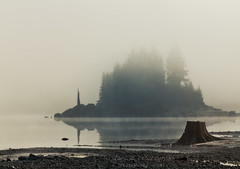 Stave Lake Island (janusz l) Tags: autumn lake fall water colors monochrome fog island rocks bc shore mission stomp stave janusz leszczynski 223448