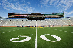 Athletics, Dave Ablauf (TJKorcal) Tags: usa field mi annarbor bighouse 50yardline