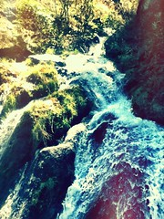 (annika dawkins) Tags: newzealand water waterfall moss rocks queenstown ipodphoto