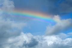 Rainbow (Zelda Wynn) Tags: sky ice nature rain weather rainbow crystals colours scenic auckland nz troposphere