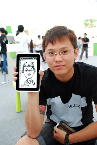digital caricature live sketching on HTC Flyer for HTC Weekend - Day 2 - 23