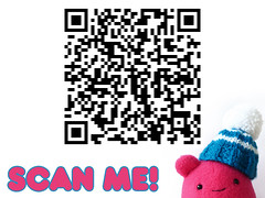 Scan me! a free knitting pattern for your Cavey (Hey, Cavey) Tags: code hey scan qr cavey