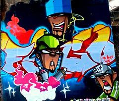 . (Mone671) Tags: street pink blue white streetart black art branco azul painting graffiti design paint arte metro rosa preto spray cap hiphop rua desenho tinta pintura mone metrô personagem estação artederua monetary estaçãodemetrô characterdoll mone671 desenhosartístico