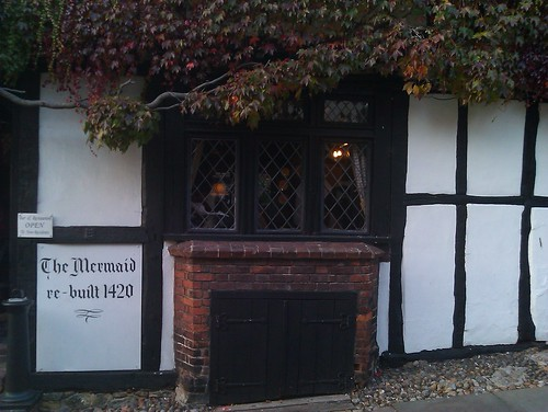 "The Mermaid Inn, ""re-built in 1420"""