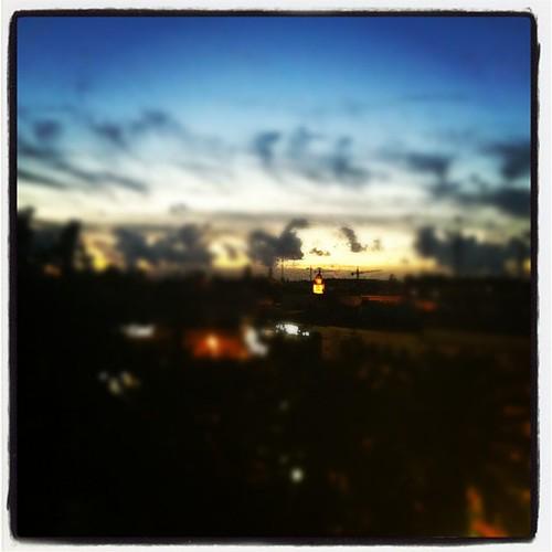 Así anochece en Jerez