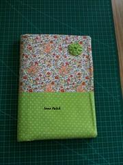IMG_1094 (Ione Patch) Tags: verde fuxico patch patchwork caderno tecido algodão