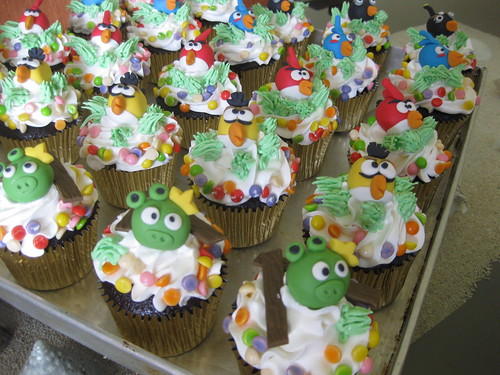 Angry Bird Cupcakes #1