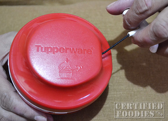 Tupperware Speedy Chopper - just pull on the cord to give those sharp blades a spin