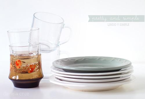 Platos, vasos y tazas