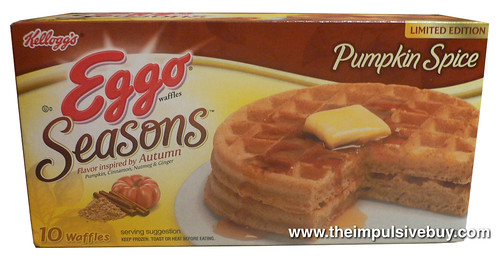 Eggo Seasons Limited Edition Pumpkin Spice Waffles