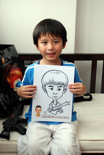 Caricature live sketching for Jonah's birthday party - 4