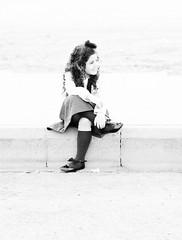 (Ebtesam.) Tags: blackandwhite white black girl nikon outdoor 85mm skirt saudi arabia jeddah gery ebtesam