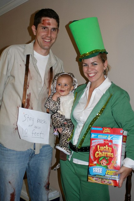The Lep Family. John, the Leper. Lily, the Leopard. And Carol, the leprechaun.