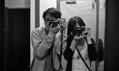 Us & our M6s (Rachelalphonse) Tags: life sanfrancisco leica blackandwhite bw film rachel leicam6classic alvin  20c  lc29 summicron35mmf2  epsonv750   kentmere400