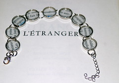 Recycled Book Bracelet - L'Etranger (thebookishlife) Tags: french book recycled handmade text bracelet etsy camus